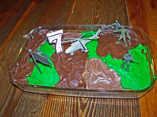 Army man birthday cake