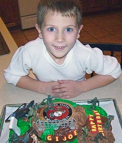 U.S. Marine Kids birthday cake